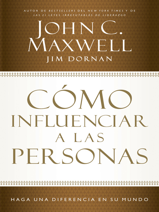 Title details for Cómo influenciar a las personas by John C. Maxwell - Available