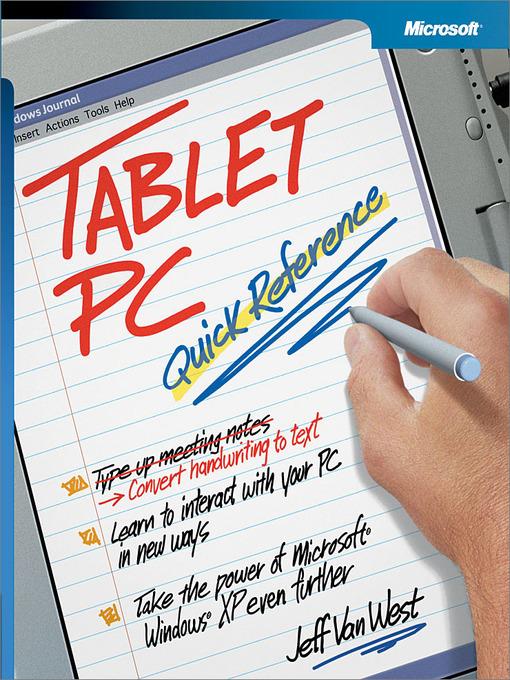 Tablet PC Quick Reference - Houston Area Digital Media Catalog