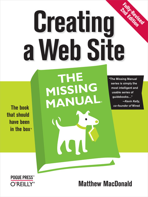 Title details for Creating a Web Site:  the Missing Manual by Matthew MacDonald - Available
