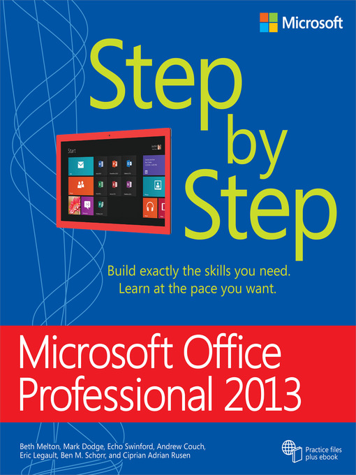 Title details for Microsoft Office Professional 2013 Step by Step by Beth Melton - Available