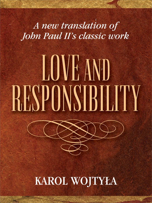 Title details for Love and Responsibility by Karol Woktyla - Available
