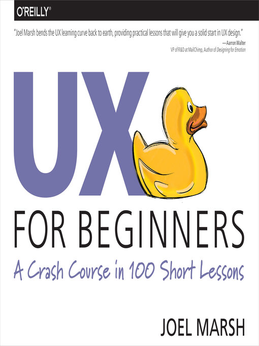 Title details for UX for Beginners by Joel Marsh - Available