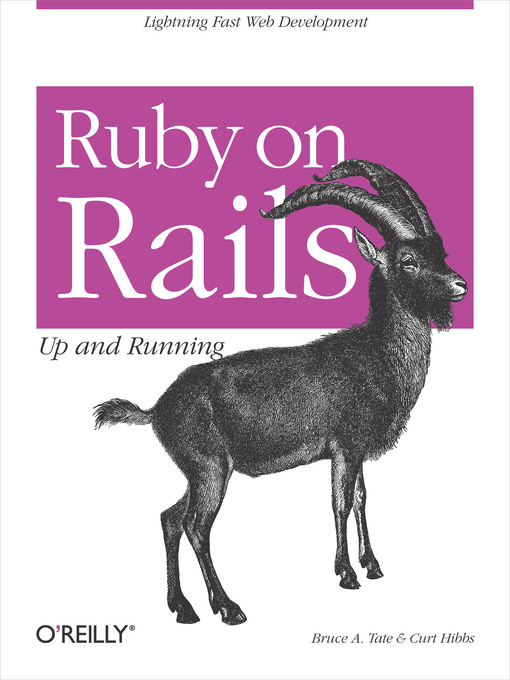 Title details for Ruby on Rails:  Up and Running by Bruce Tate - Available