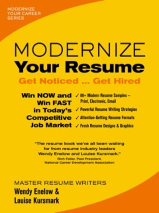Title details for Modernize Your Resume by Wendy Enelow - Available