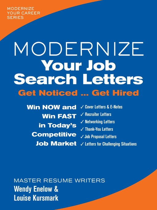 Title details for Modernize Your Job Search Letters by Wendy Enelow - Available