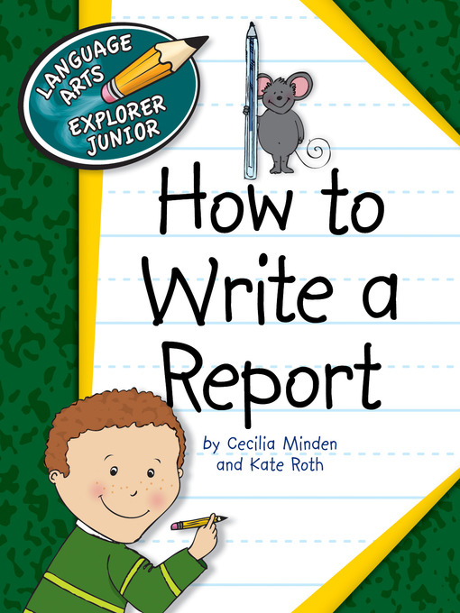how to writing a report