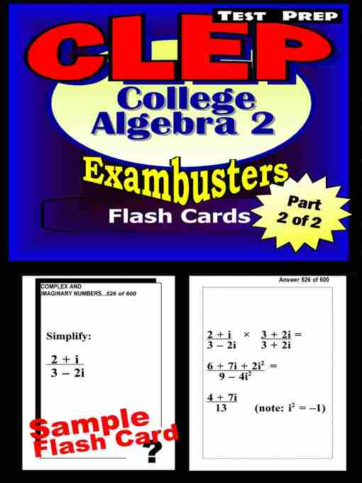 clep college mathematics Comex systems, inc has been helping people excel on clep exams for over 40 years this 5 lesson series covers the information found on the clep college mathematics exam.