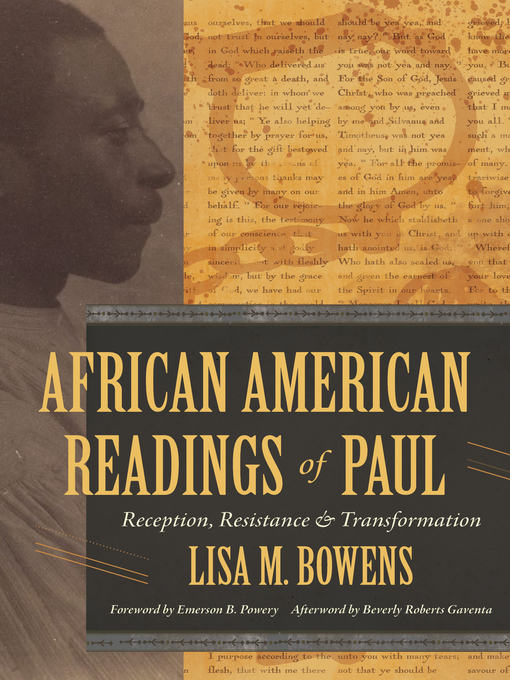 Title details for African American Readings of Paul by Lisa M. Bowens - Available