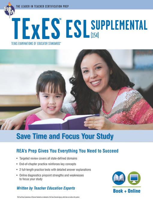 texas texes esl supplemental (154) w/online practice - university of