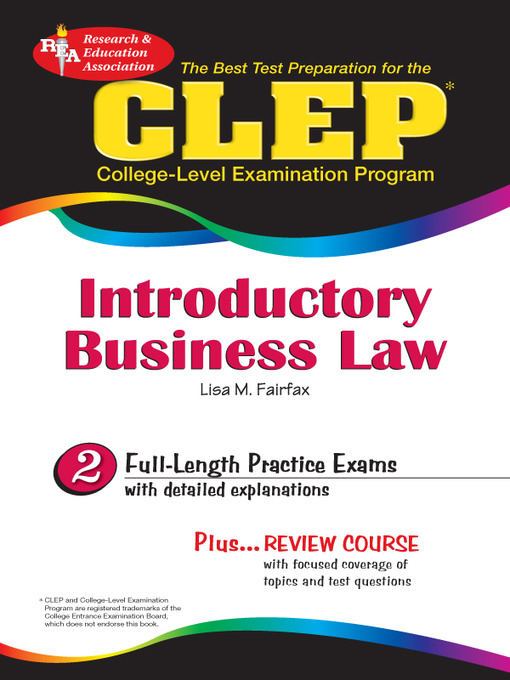 Cover of CLEP Introductory Business Law