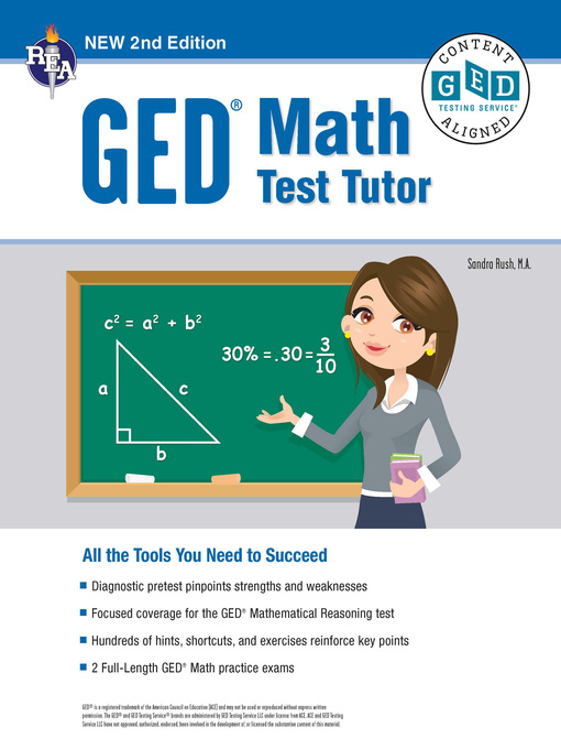 Cover of GED® Math Test Tutor