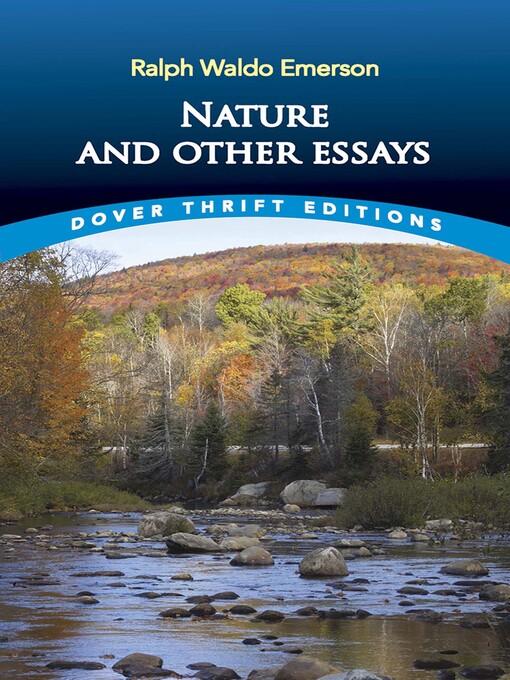 nature is an essay written by ralph waldo emerson