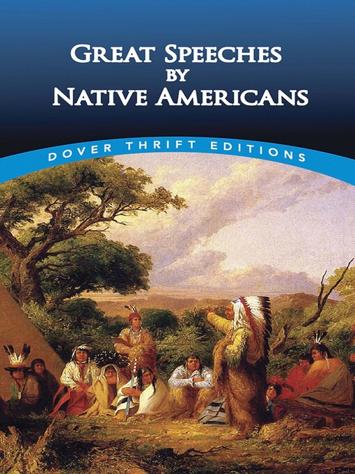 Title details for Great Speeches by Native Americans by Bob Blaisdell - Available