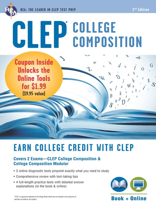 Cover of CLEP College Composition Book + Online