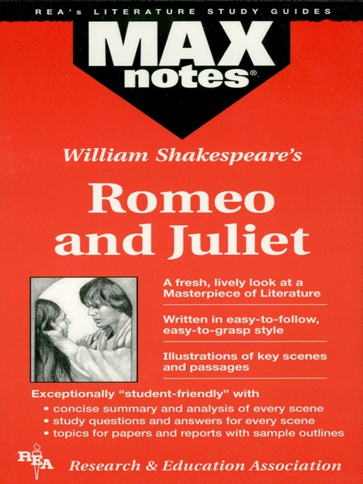 a literary analysis of romeo and juliet and other literature by william shakespeare Romeo and juliet study guide contains a biography of william shakespeare, literature essays, a complete e-text, quiz questions, major themes, characters, and a.