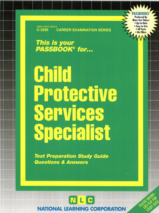 Title details for Child Protective Services Specialist by National Learning Corporation - Available