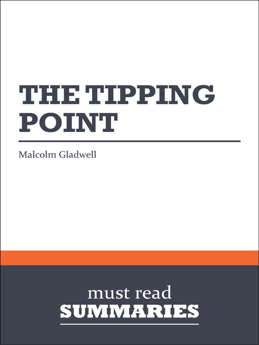 the tipping point by malcolm gladwell essay This novel written by malcolm gladwell is primarily a book about change gladwell relates human beings and things that occur in and around a humans life to a common children's tv show - the sesame street it is a book that explains why change happens so quickly and unexpectedly almost like an.