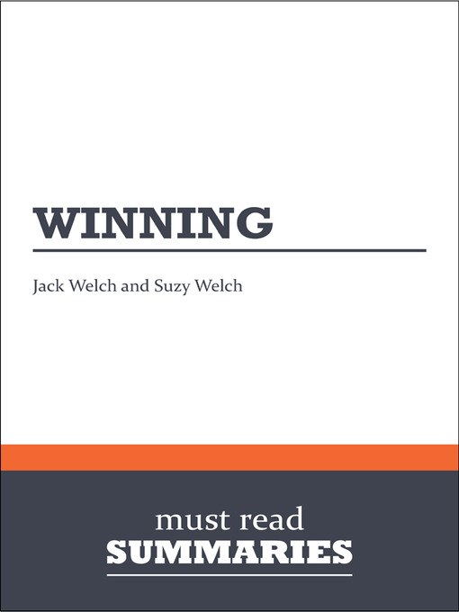 Cover of Winning - Jack Welch and Suzy Welch