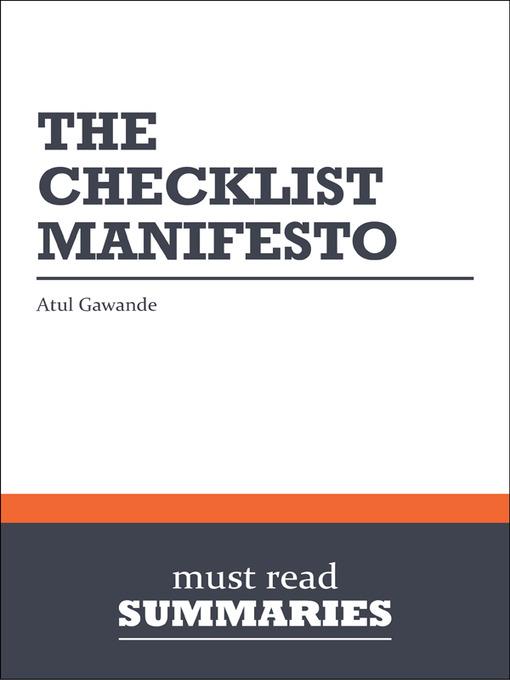 Checklist Manifesto Epub