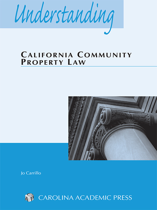 Cover of Understanding California Community Property Law