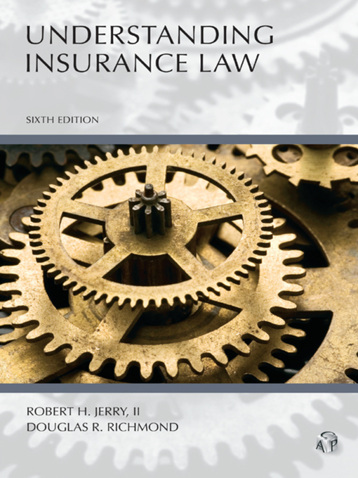 Cover of  Understanding Insurance Law