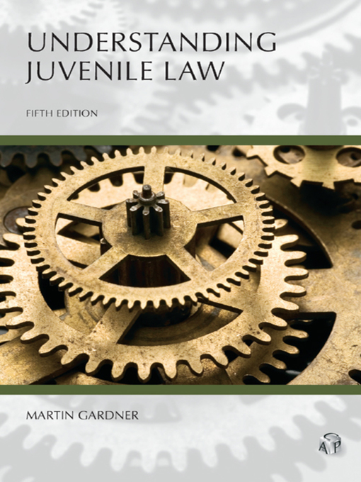Cover of  Understanding Juvenile Law