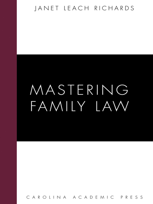 Cover of  Mastering Family Law
