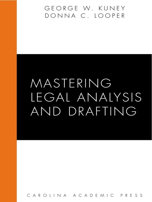 Cover of Mastering Legal Analysis and Drafting