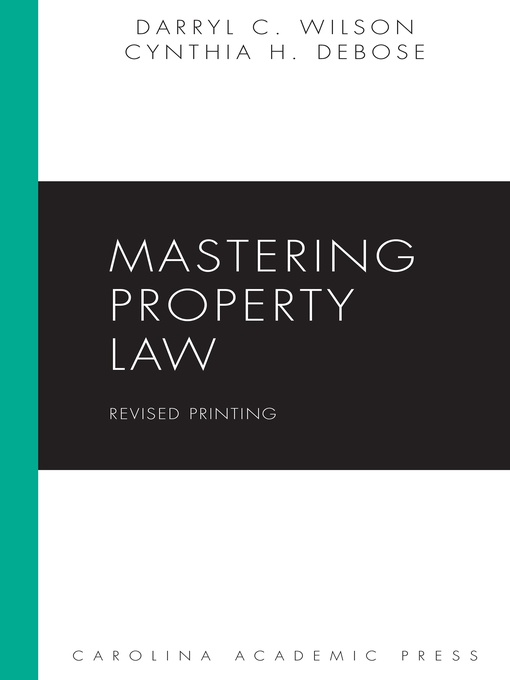 Cover of Mastering Property Law