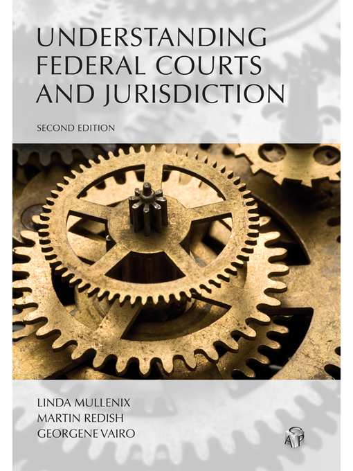 Cover of Understanding Federal Courts and Jurisdiction
