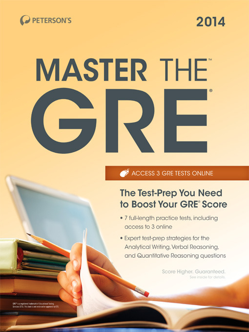 Cover of Master the GRE 2014