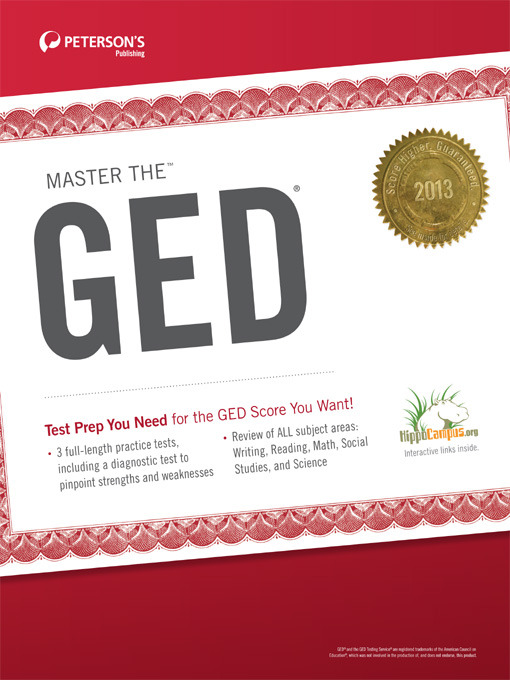 Title details for Master the GED 2013 by Peterson's - Available