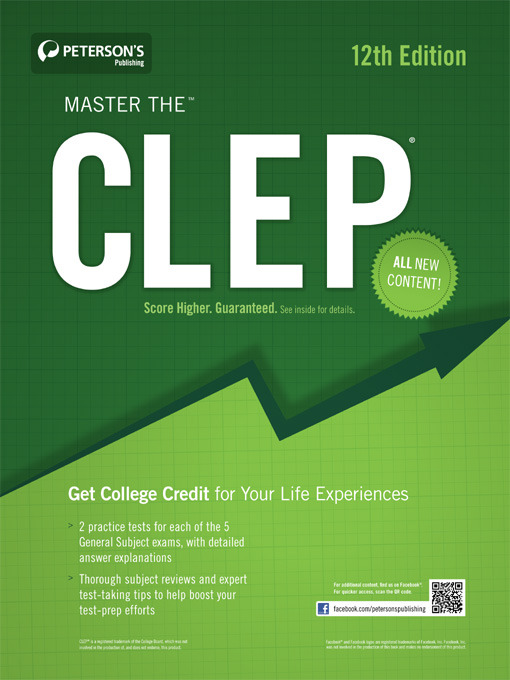Title details for Master the CLEP by Peterson's - Available