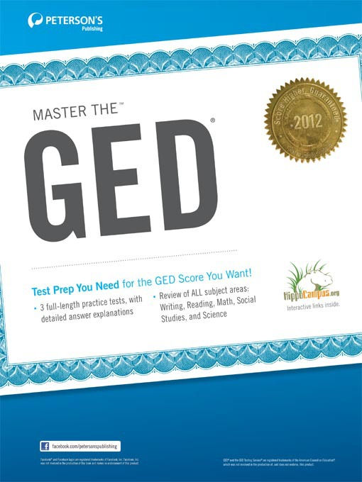 Title details for Master the GED 2012 by Peterson's - Available