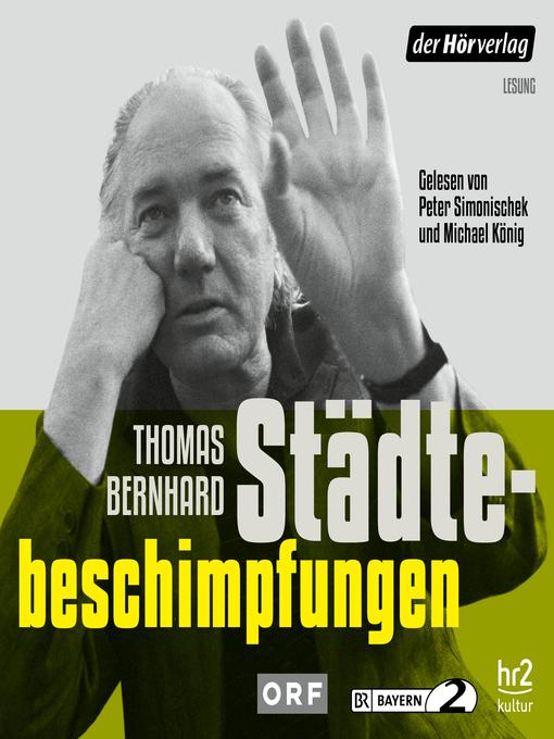 Title details for Städtebeschimpfungen by Thomas Bernhard - Available