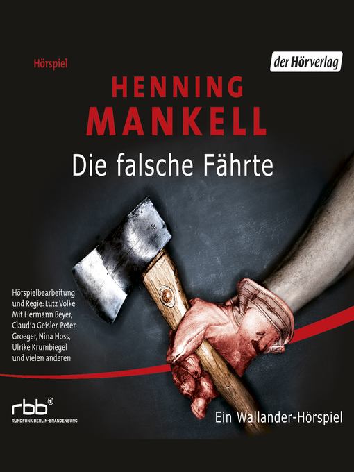Title details for Die falsche Fährte by Henning Mankell - Available