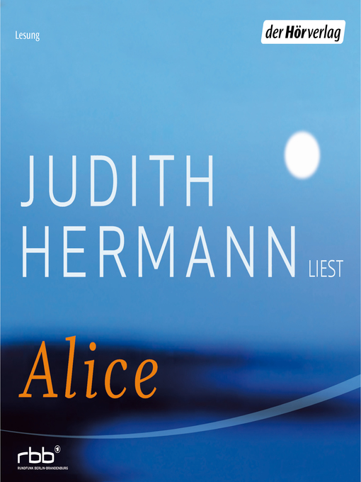 Title details for Alice by Judith Hermann - Available