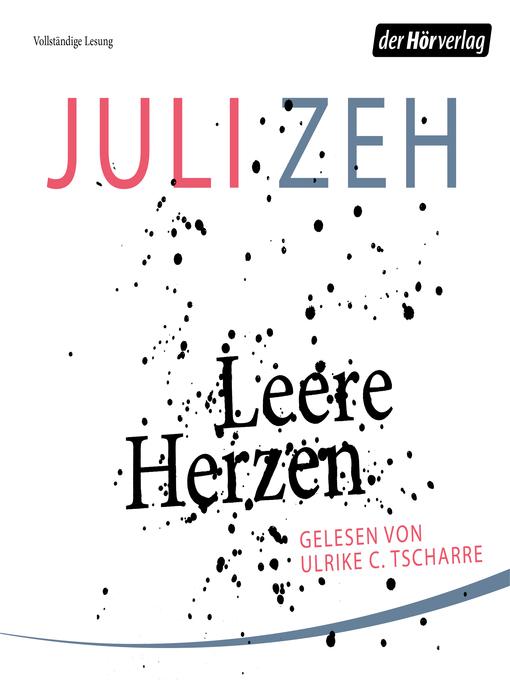 Read Leere Herzen By Juli Zeh