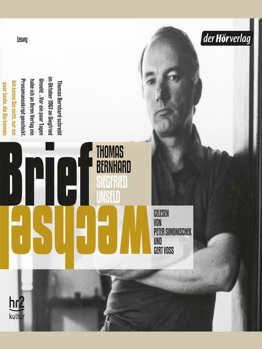 Title details for Briefwechsel by Thomas Bernhard - Wait list