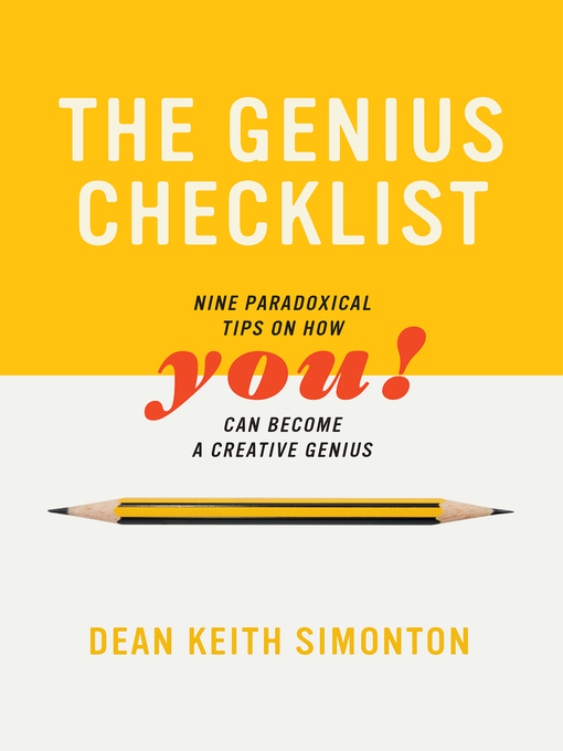 Title details for The Genius Checklist by Dean Keith Simonton - Available