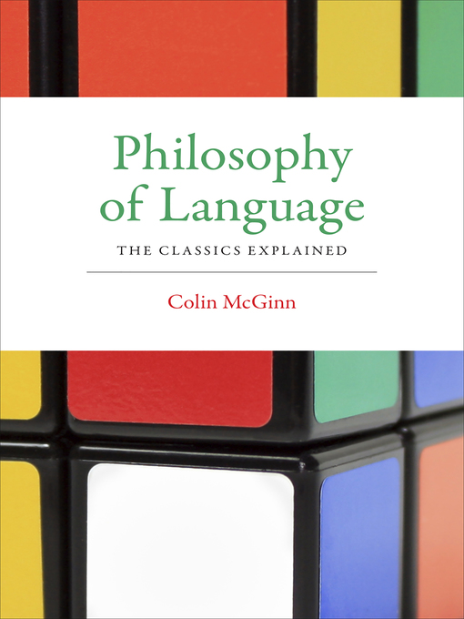 an essay in the philosophy of language Speech acts has 354 ratings and 14 reviews mary said: as with most things, i started out entirely confused about what, exactly, searle was even saying.