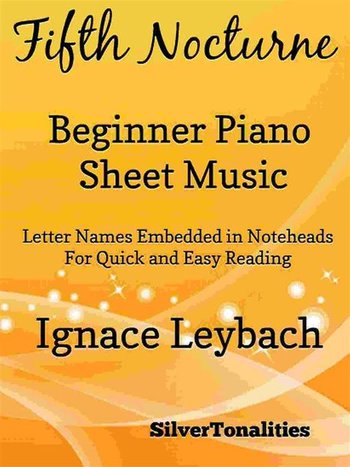 Fifth Nocturne Opus 52 Number 5 Beginner Piano Sheet Music
