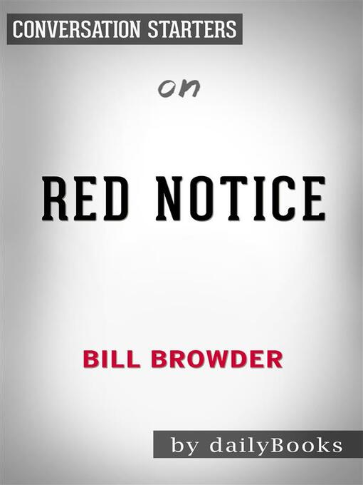 Cover of Red Notice--by Bill Browder​​​​​​​
