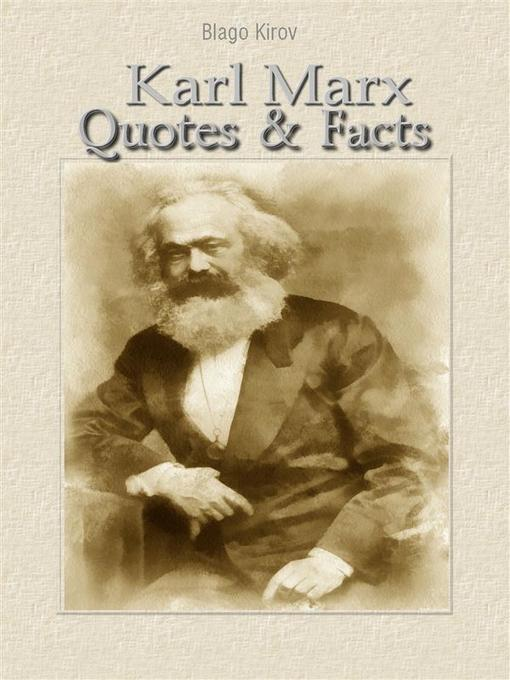 Cover of Karl Marx