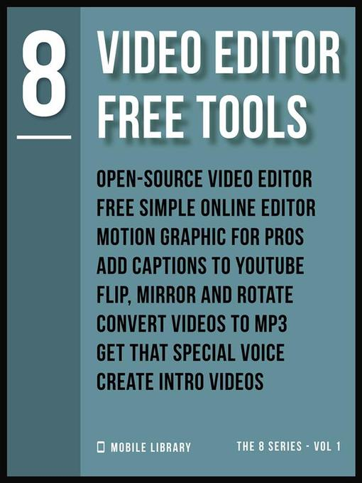 Video Editor Free Tools 8 - Media On Demand - OverDrive