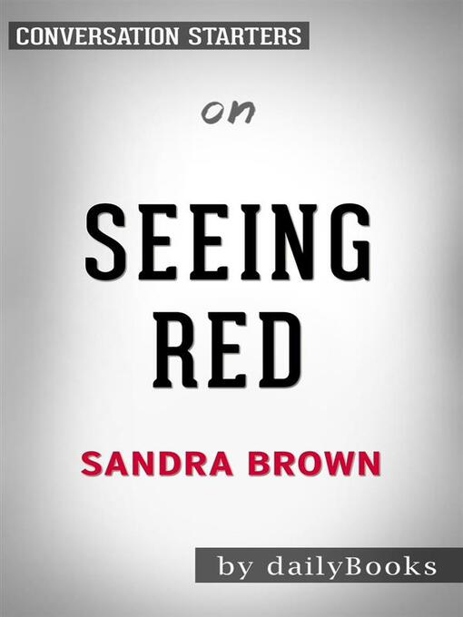 Titelansicht von Seeing Red--by Sandra Brown​​​​​​​