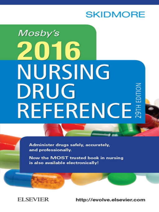 Mosby's 2016 Drug Reference Handbook