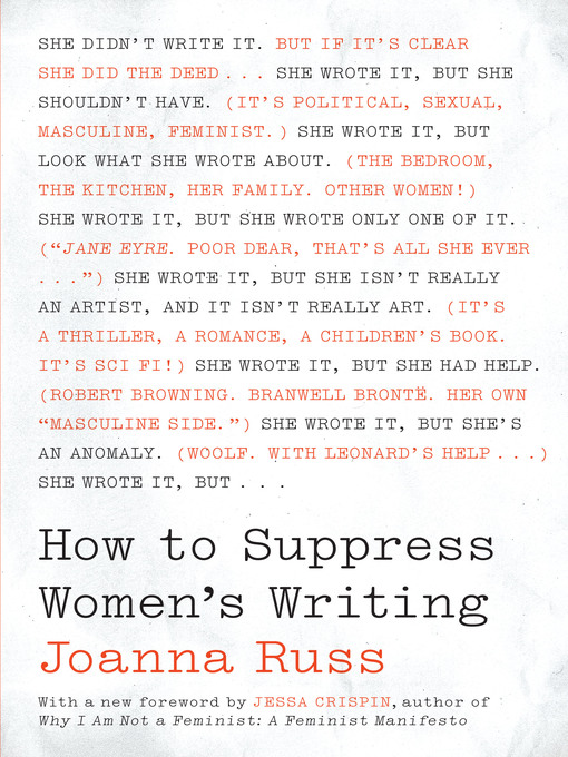 Title details for How to Suppress Women's Writing by Joanna Russ - Available