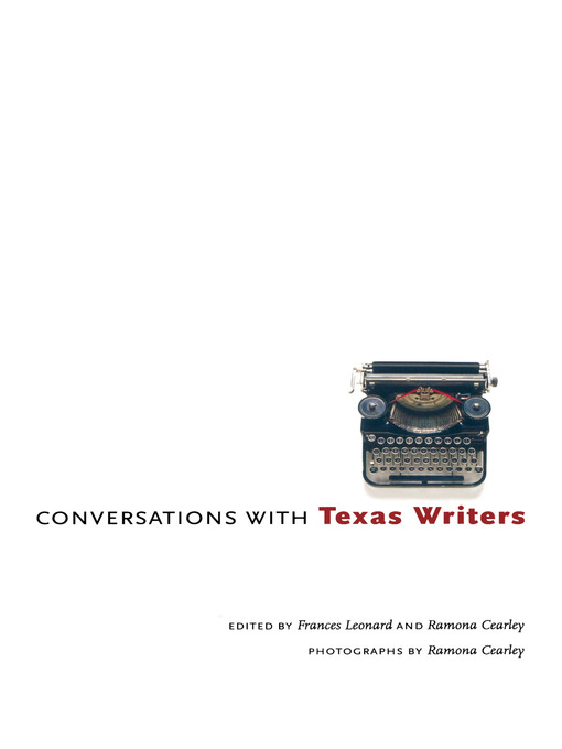 Title details for Conversations with Texas Writers by Frances Leonard - Wait list