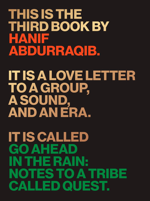 Title details for Go Ahead in the Rain by Hanif Abdurraqib - Available